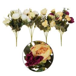 Dirbtiniu gėlių puokštė 30 cm.