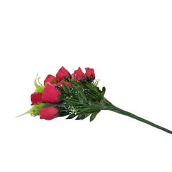 Dirbtinių rožių puokštė x12